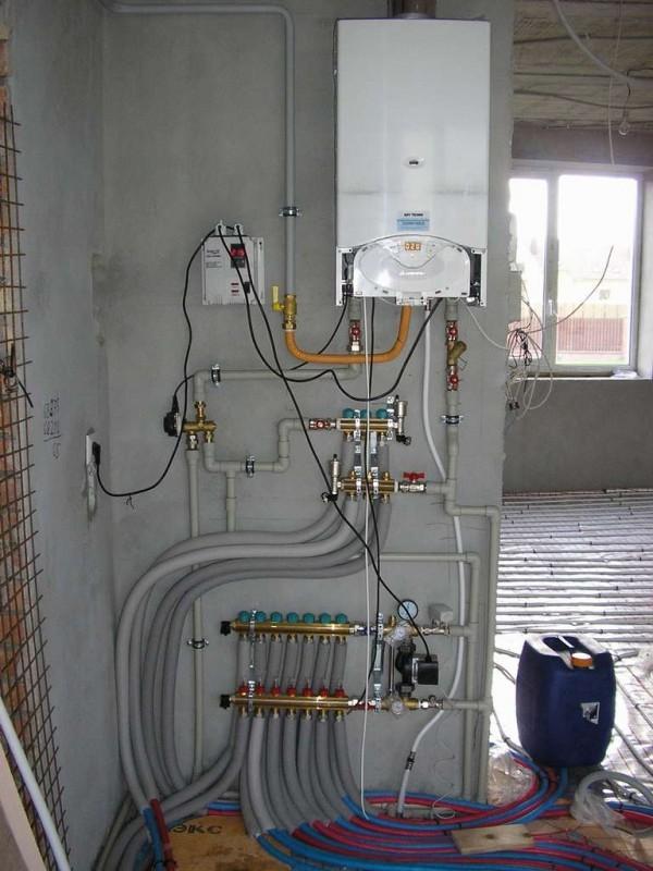 Монтаж настенных газовых котлов отопления своими руками